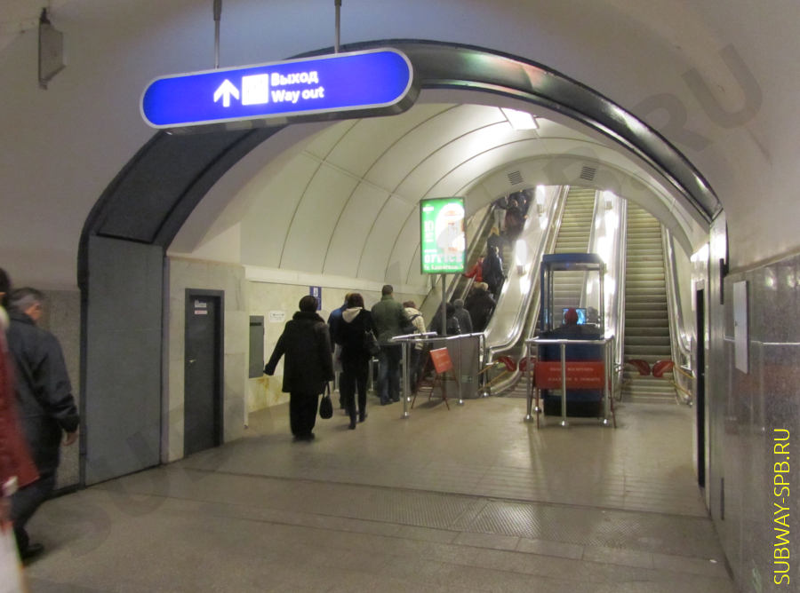 Petersburg metro, Gostiny Dvor station, guillotine-type hermetic door