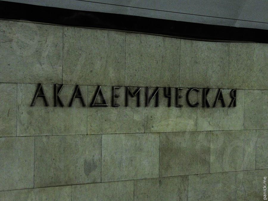 Питерское метро, станция Академическая