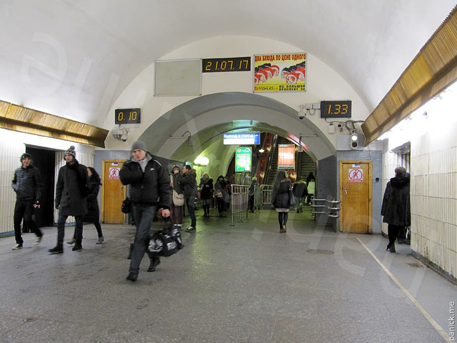 Питерское метро, станция Петроградская